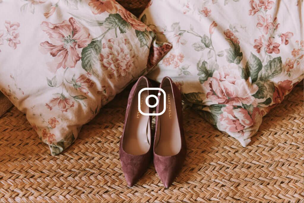 zapatos de novia granates