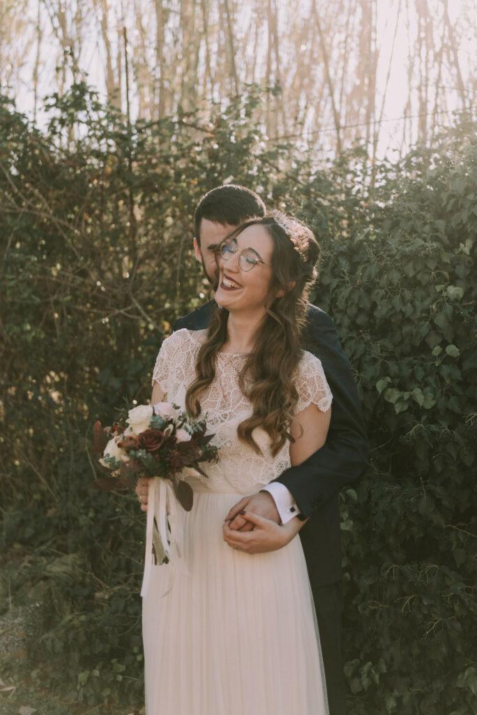 boda ariadna y albert en el molí de l'escala